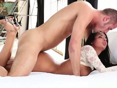 Tattooed Latina Riding On A Shifter